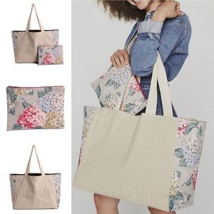 DSW Floral Tote & Pouch